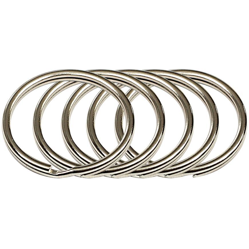 Ocelový kroužek na klíče rvr.rx.30.KR.5ks