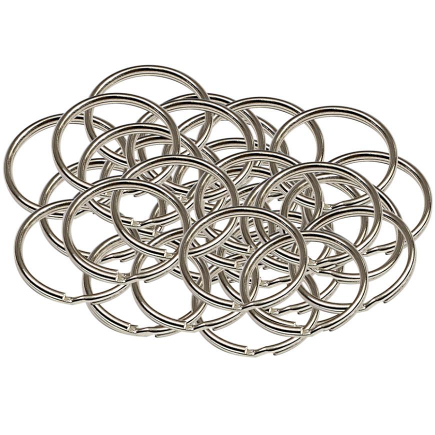 Ocelový kroužek na klíče rx.20.KR50ks