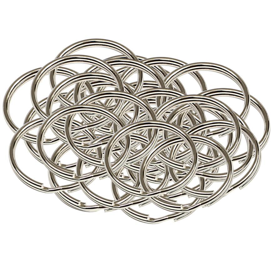 Ocelový kroužek na klíče rx.25.KR 50ks