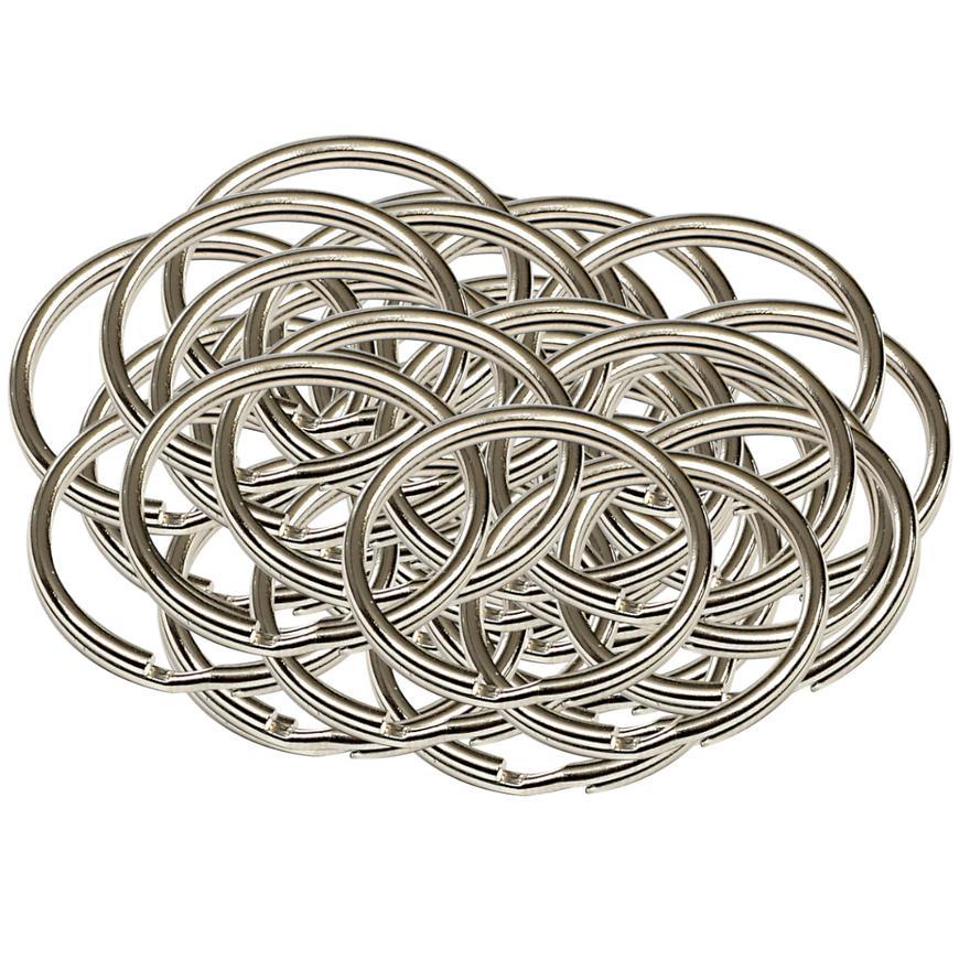 Ocelový kroužek na klíče rx.30.KR50ks
