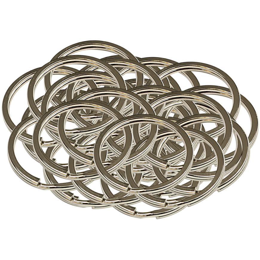 Ocelový kroužek na klíče rx.30.PL50ks