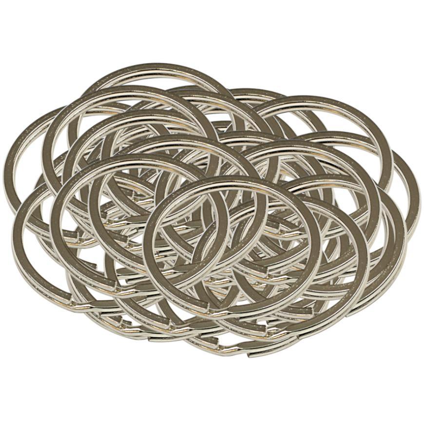 Ocelový kroužek na klíče rx.35.PL50ks