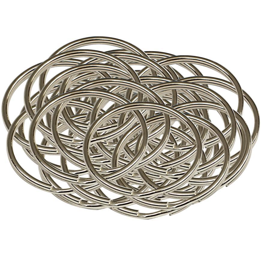 Ocelový kroužek na klíče rx.40.KR50ks
