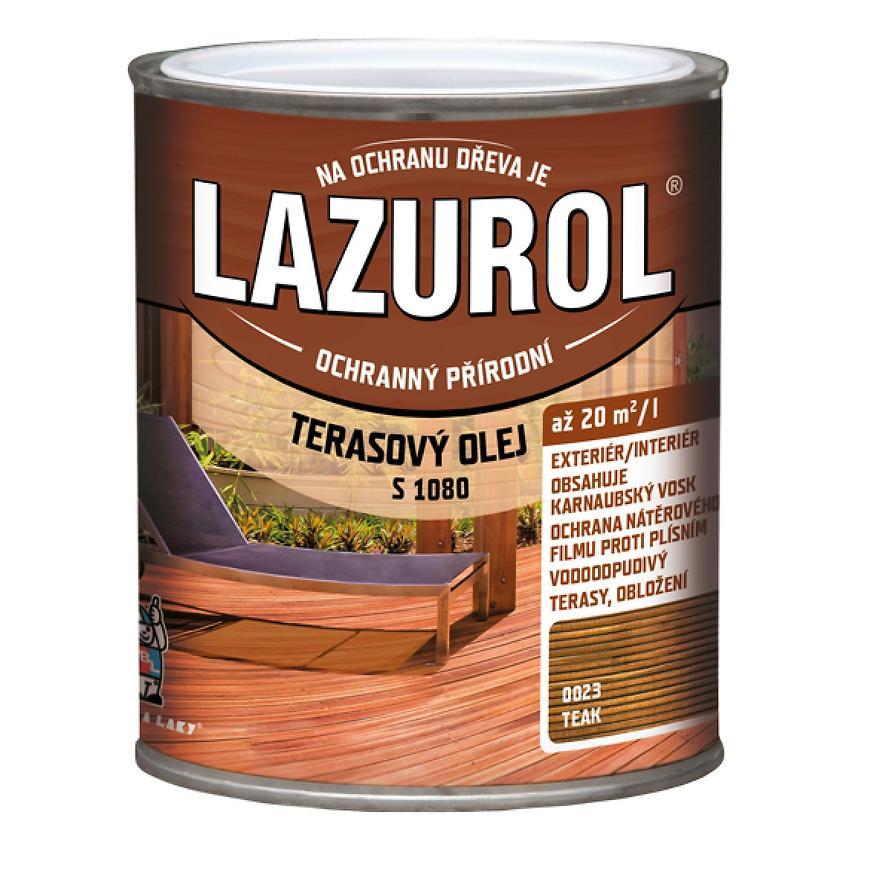 Lazurol terasový olej teak 0,75l