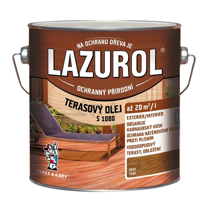 Lazurol terasový olej teak 2,5l