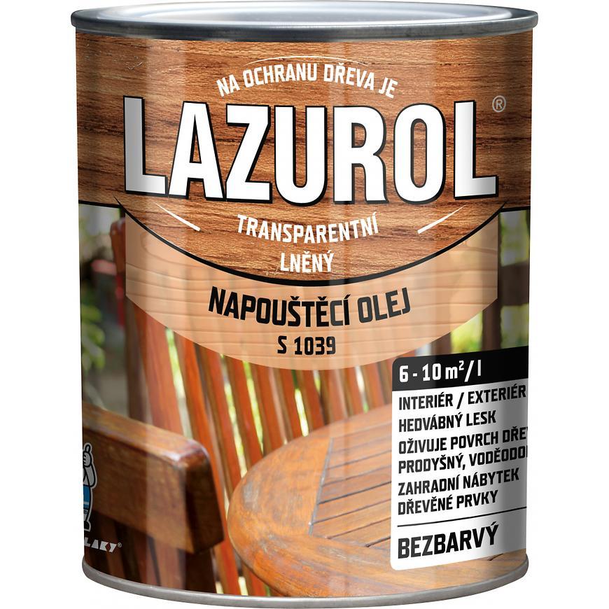 Lazurol napouštěcí olej přírodní 0,75l