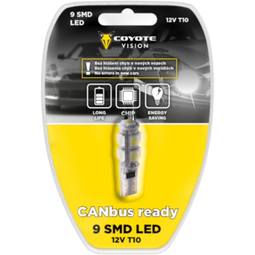Žárovka 12v Led 9 Smd T10 Can-Bus Ready Bílá