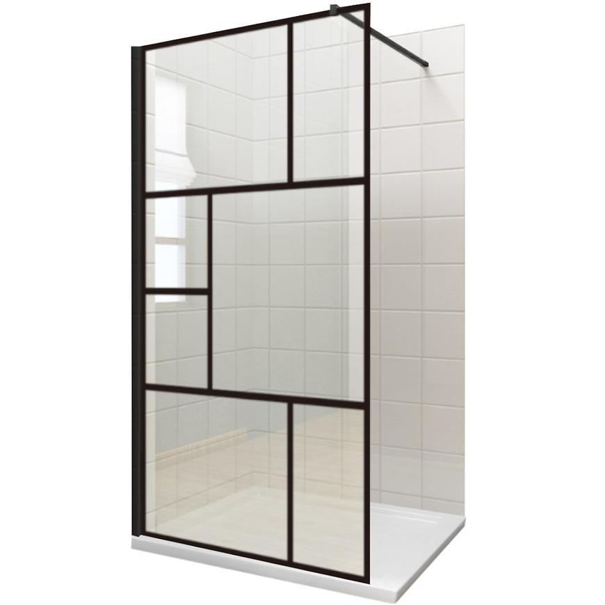 Sprchova stena WALK=IN Notte 120x195 čierny profil