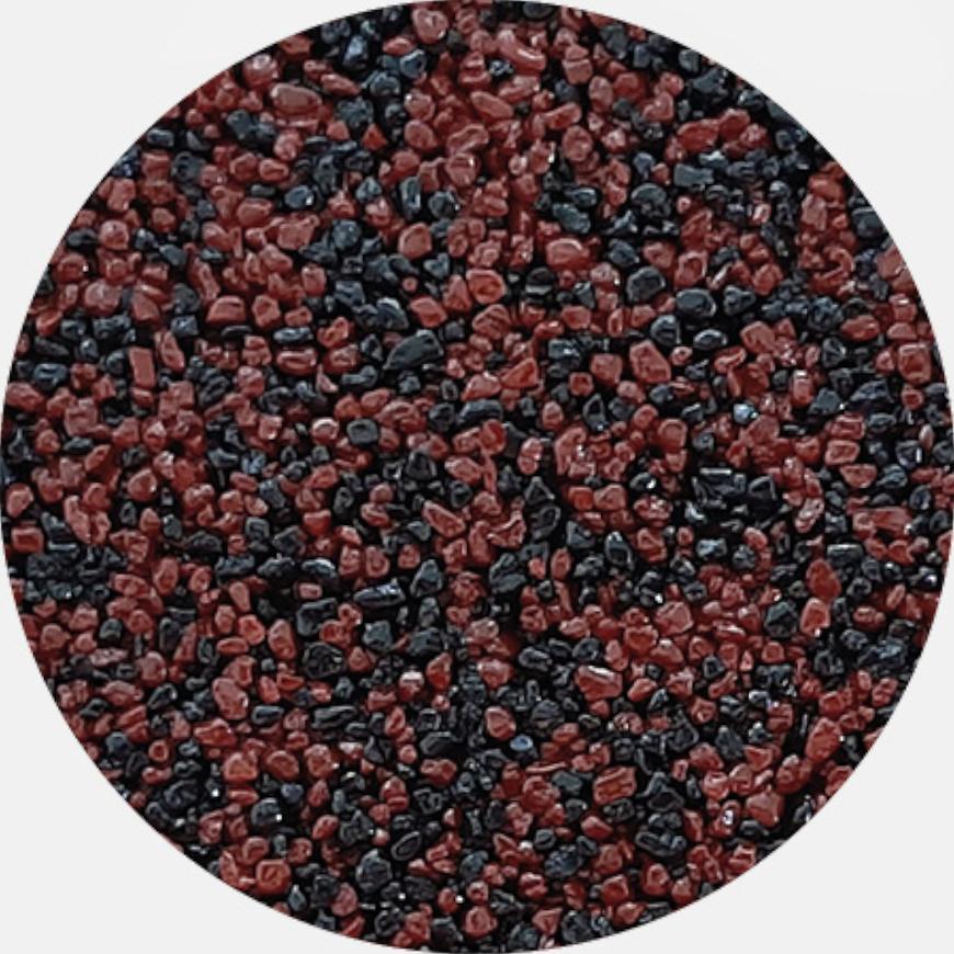 Kamenivo pro Tekutou dlažbu červenohnědá-černá 15,91 kg