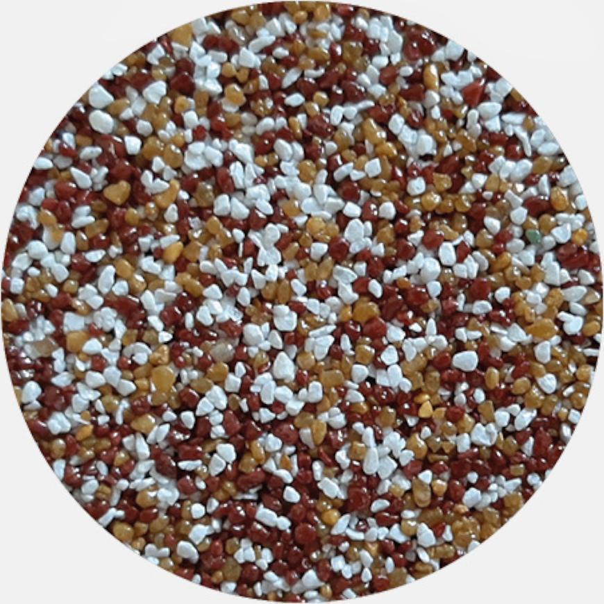 Kamenivo pro Tekutou dlažbu červenohnědá-bílá-okrová 15,91 kg