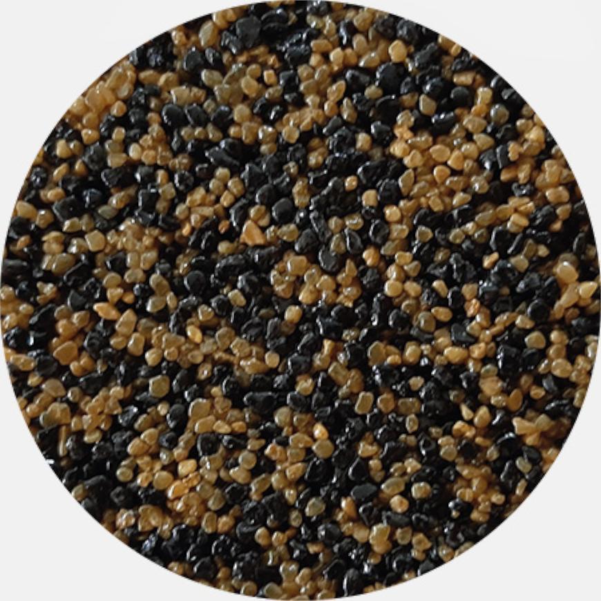 Kamenivo pro Tekutou dlažbu černá-okrová 15,91 kg