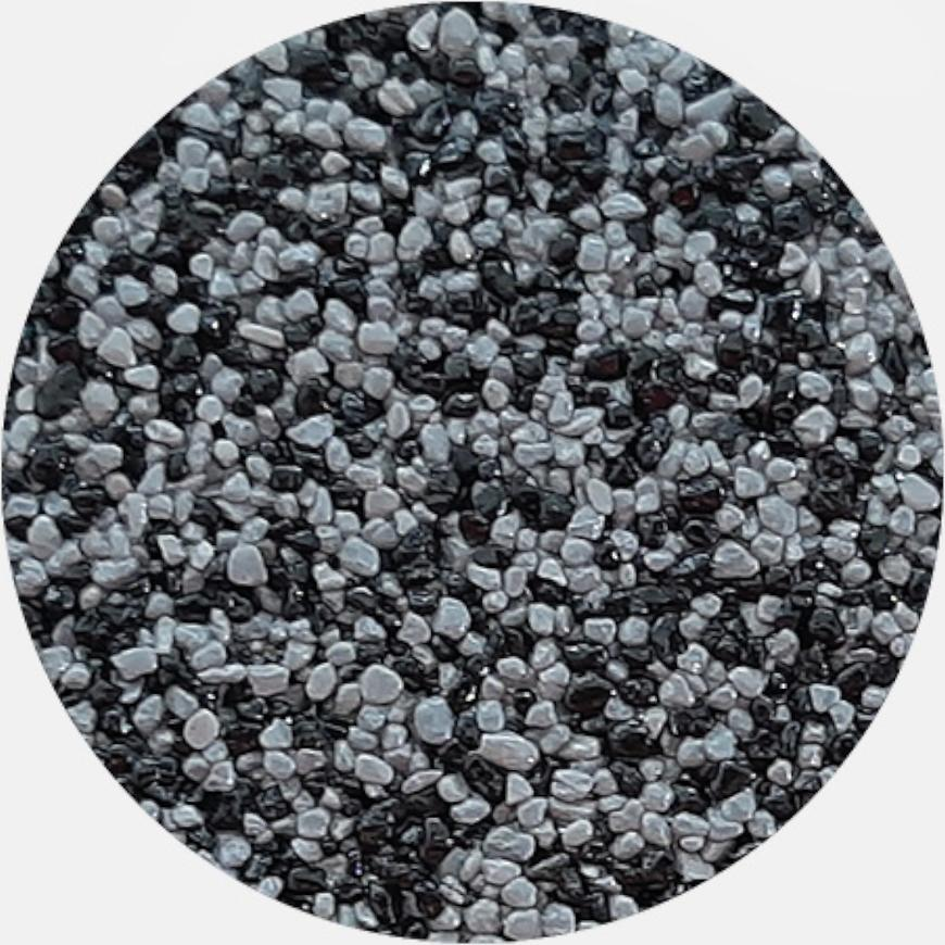 Kamenivo pro Tekutou dlažbu černá-šedá 15,91 kg