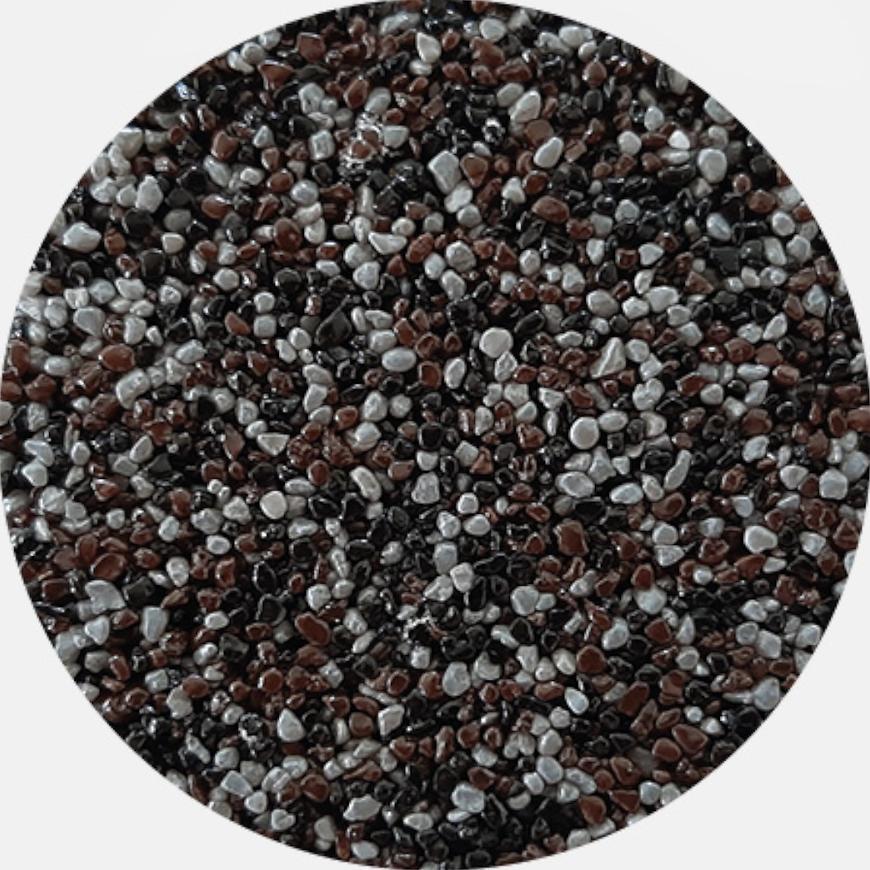 Kamenivo pro Tekutou dlažbu černá-šedá-hnědá 15,91 kg