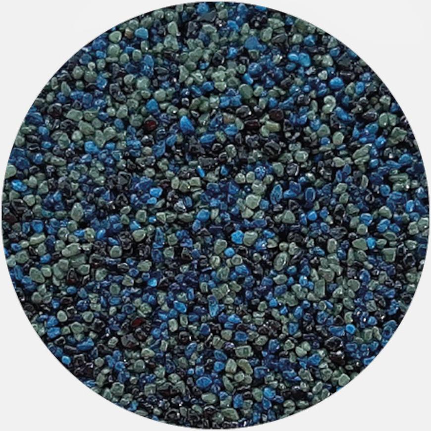 Kamenivo pro Tekutou dlažbu černá-modrá-zelená 15,91 kg