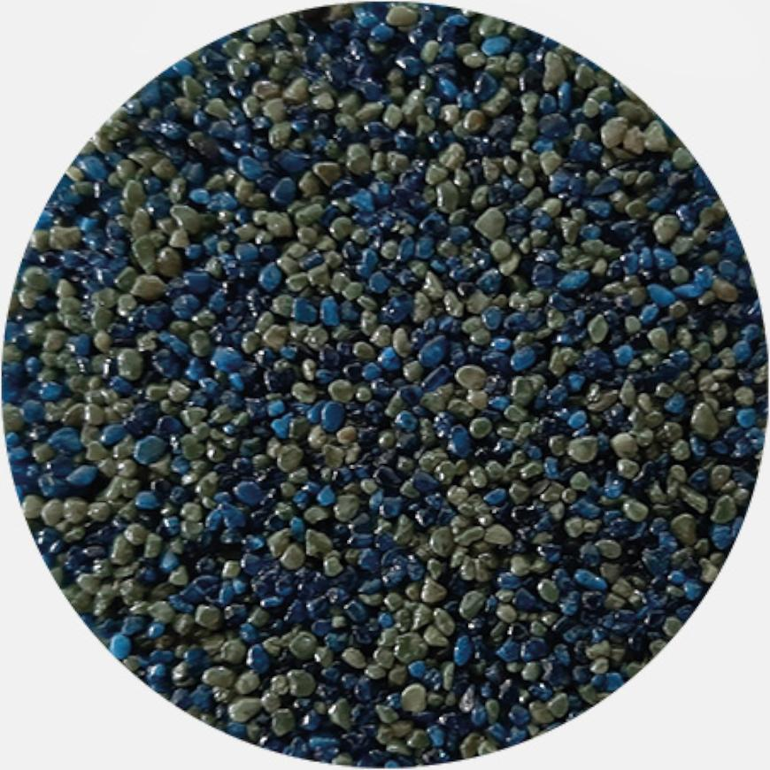 Kamenivo pro Tekutou dlažbu modrá-zelená 15,91 kg