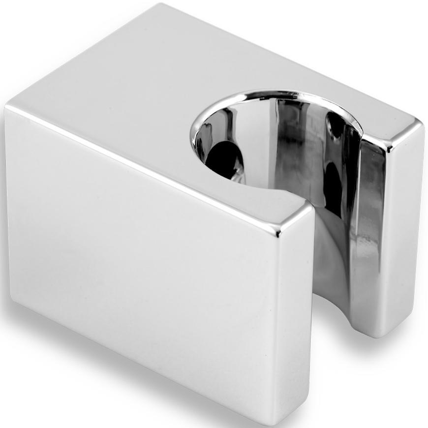 Držák sprchy hranatý pevný chrom d/cube,0