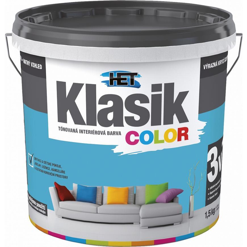 Het Klasik Color 0487 modrý tyrkysový 1,5kg