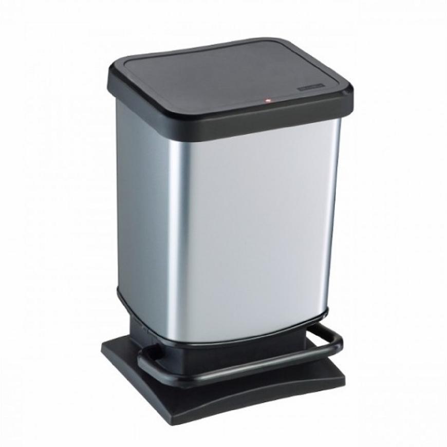 Rotho odpadkový koš 20l Paso černý/iml stříbrný