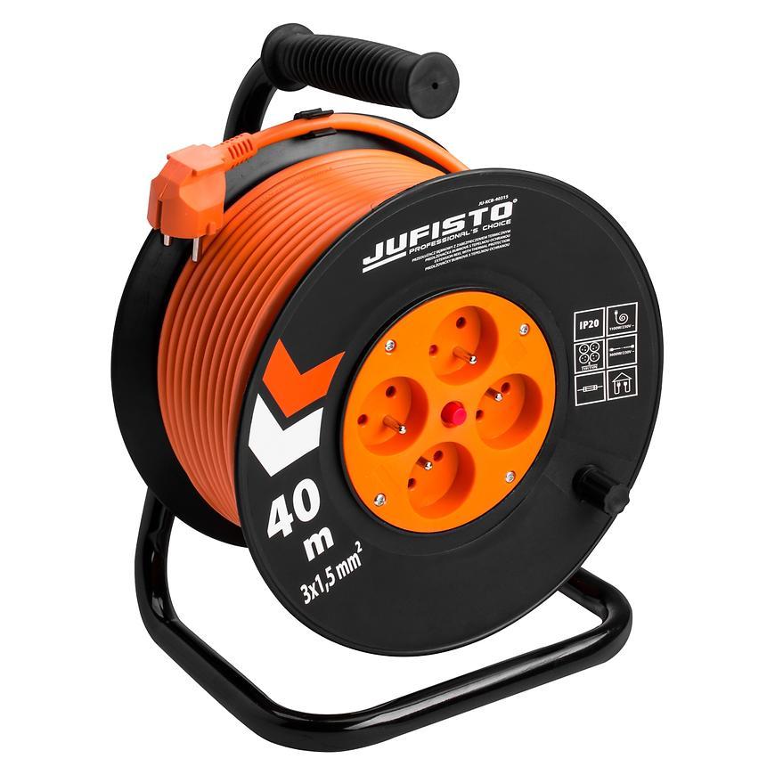 Prodlužovací kabel na bubnu Jufisto 40M