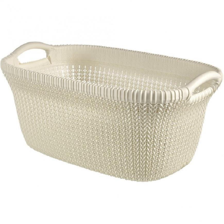 Prádelní koš Knit 40l 228393 krém.