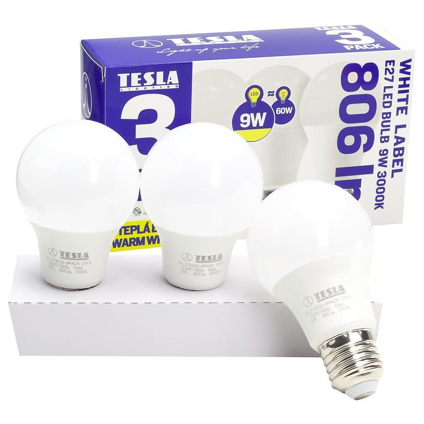 Žárovka LED E27 9W A60 806LM