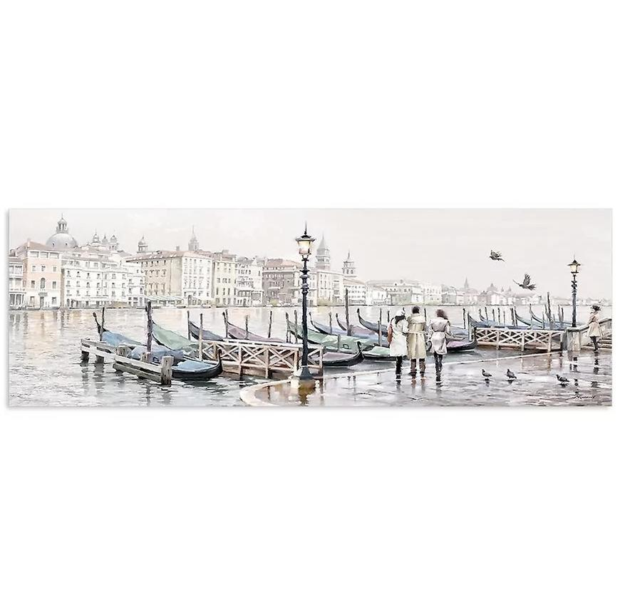 Obraz Na Plátně Canvas Watercolor 45x140 Venezia Gondole
