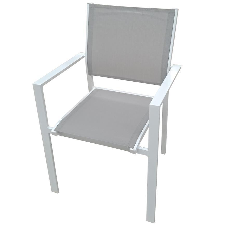 Židle Arizona hliník šedá a bílá