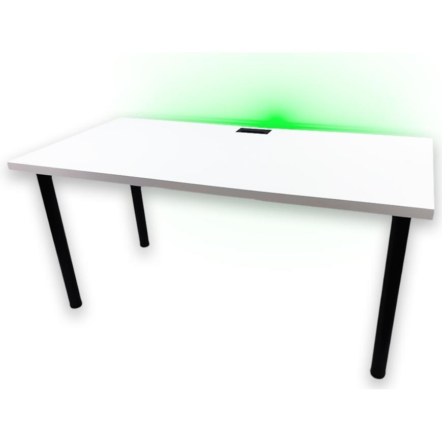 Psací Stůl Pro Hráča 160cm Model 2 Bily Horní