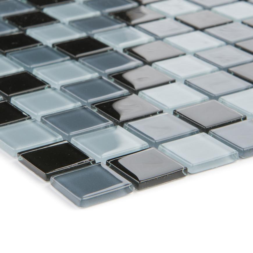 Mozaika schwarz grau 41060 30x30x0,4