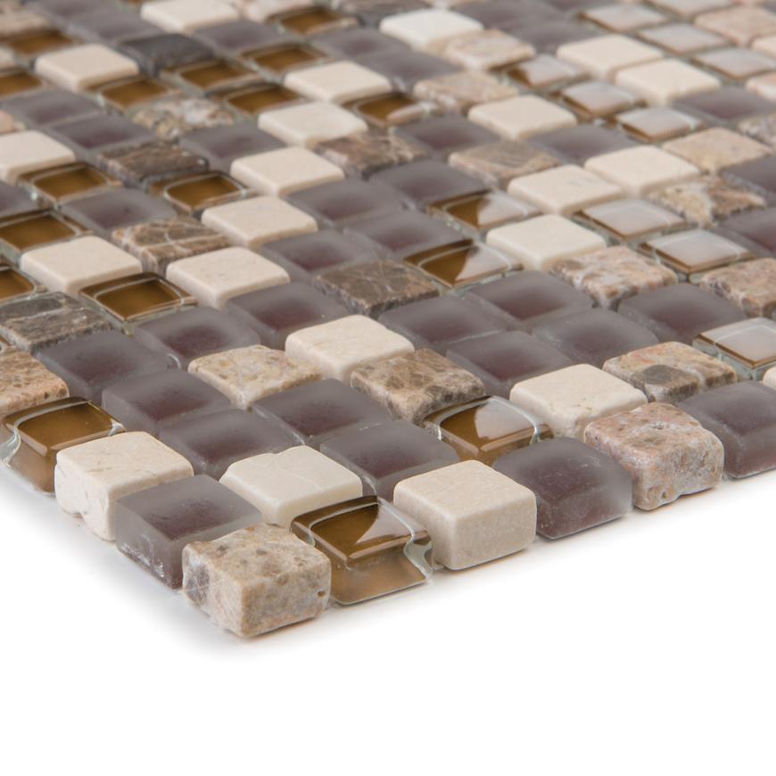 Mozaika marmor Java/glassmix hellbraun dunk. 47840 30,5x30,5x0,8