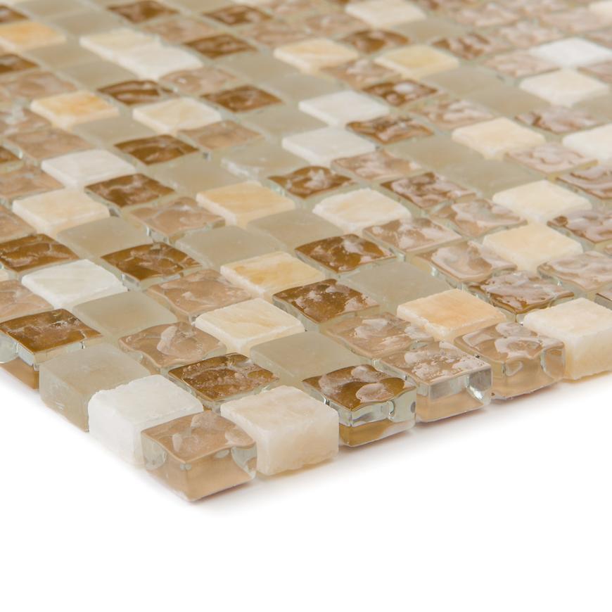 Mozaika marmor beige/glasmix 47888 30,5x30,5x0,8
