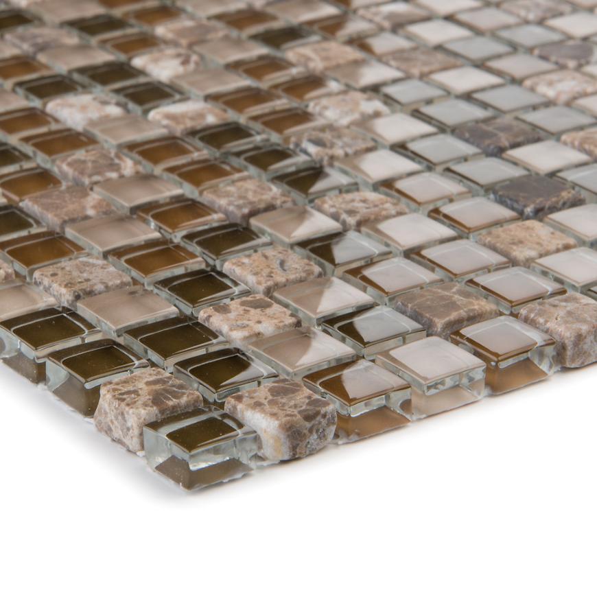 Mozaika marmormix Java beige/glassmix braun 47925 30,5x30,5x0,8