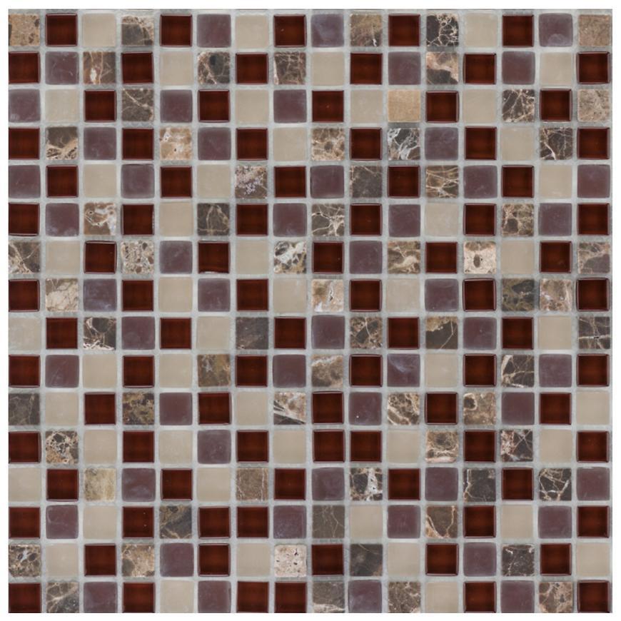 Mozaika marmor Java/glassmix Bordeaux beige 47932 30,5x30,5x0,8